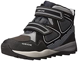 Geox J Orizont Boy ABX 1 Sneaker (Toddler/Little Kid/Big Kid), Black/Grey, 25 EU (8.5 M US Toddler)