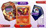 The metal box DELPHOX holo 26/146 XY Flashfire + 1 Optimized Booster of 6 English new rare cards + 1 Optimized Booster of 50 English new common cards