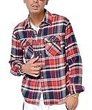 ジョーカーセレクト(JOKER Select) ネルシャツ メンズ 長袖 シャツ 長袖シャツ チェックシャツ カジュアル フランネル チェックシャツ レディース M D柄(30)