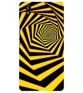 Chiraiyaa Designer Printed Premium Back Cover Case for Oneplus X one plus x (pattern 3d yellow stripes) (Multicolor)
