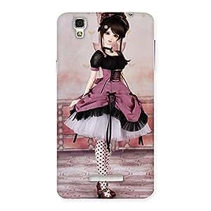 Cute Cute Dancing Girl Multicolor Back Case Cover for YU Yureka Plus
