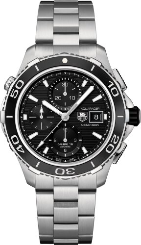 Tag Heuer Aquaracer Black Dial Chronograph Stainless Steel Automatic Mens Watch CAK2110BA0833