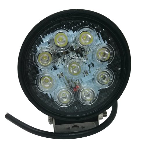 27W Heavy-Duty Round Off Road Led Work Light Lamp - Led Driving Light For Atv, Utv, Suv, Jeep, 4X4, Truck, Tractor, Boat - Orl-09