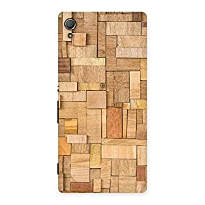 Special Wood Blocks Pattern Back Case Cover for Xperia Z3 Plus