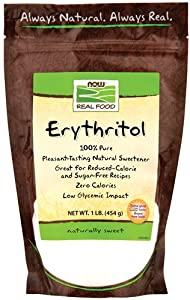 NOW Foods Erythritol Pure Sweetener,  16 Ounce Bags (Pack of 3), Package May Vary