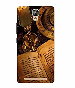 Case Cover Vintage Printed Yellow Soft Silicon Back Cover For Gionee Marathon M5 Plus