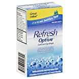 Refresh Optive Eye Drops, Lubricant, 2 - 0.5 fl oz (15 ml) bottles