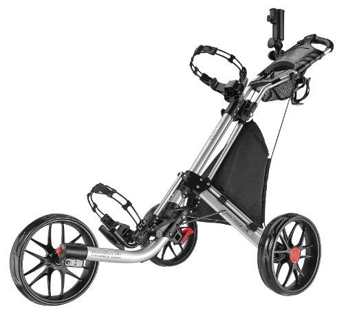 CaddyTek EZ-Fold 3 Wheel Golf Push Cart, Silver (Golf Trolley compare prices)