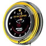 Trademark Miami Heat 2013 NBA Champions Chrome Neon Clock