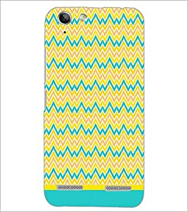 PrintDhaba Zig Zag Pattern D-1696 Back Case Cover for LENOVO LEMON 3 (Multi-Coloured)