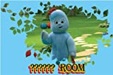 IN THE NIGHT GARDEN - IGGLE PIGGLE -PERSONALISED BEDROOM DOOR PLAQUE - THE PLAQUE ARE 9.6cm x 6.6cm APPROX IDEAL GIFT - ANY NAME USE THE GREETING MESSAGE BOX JUST FOR THE NAME TO GO ON THE DOOR PLAQUE WHEN YOU CHECK OUT OR EMAIL ME WITH THE NAME.