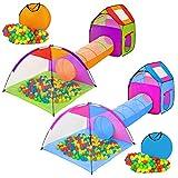TecTake® Iglu Kinderspielzelt Spielhaus Kinderzelt mit Krabbeltunnel