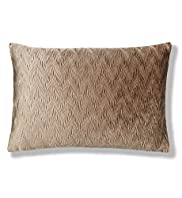 Zig Zag Pleated Velvet Cushion