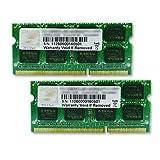 G.SKILL 16GB (2 x 8GB) 204-Pin DDR3 SO-DIMM DDR3 1600 (PC3 12800) Laptop Memory Model F3-1600C11D-16GSQ