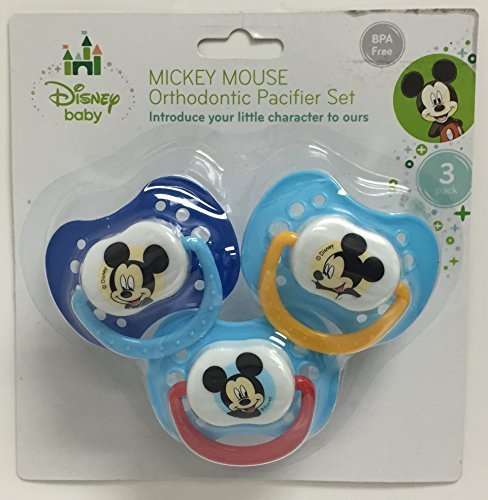 Mickey Mouse Orthodontic Pacifier Set