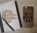 Barcelona Soccer Team HANDMADE wooden case for Iphone 6 plus/6s plus – Made from eco-friendly nut wood – Modern Football art – Original gift for men and boyfriend – Leave us a feedback and win a gift
