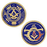 Delight eShop Gold Plated Free-mason Under Fatherhood of God Commemorative Challenge Coin Gift