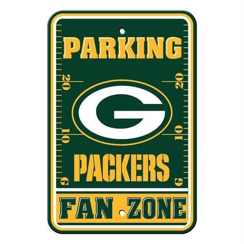 Green Bay Packers Nfl Plastic Parking Sign (Fan Zone) (12 X 18)