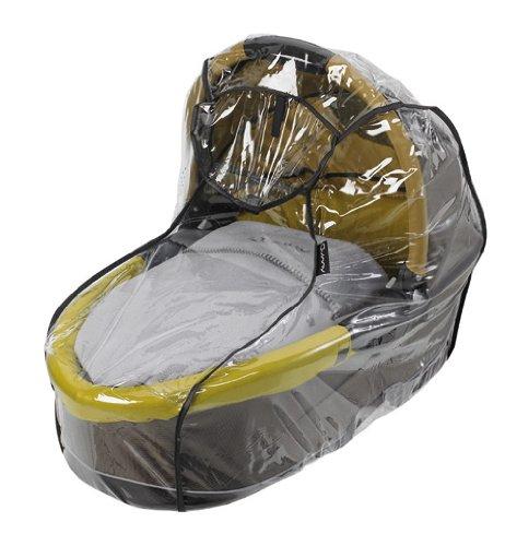 Imagen 2 de Quinny 64803050 Speedi - Capazo para sillas de paseo, incluye colchón, manta, mosquitera y protector para la lluvia, color marrón y ocre