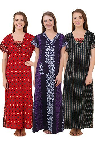 8442f63780 Masha Women s 3 Pcs set cotton Nighty Price in India