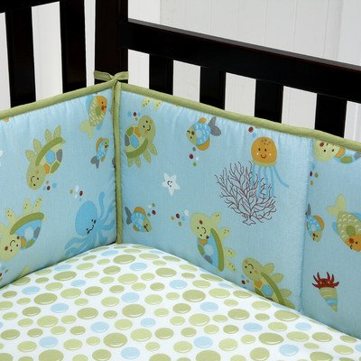 NoJo Little Bedding Traditional 4 Sided Bumper, Ocean Dreams