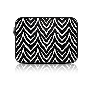Macbeth Collection Neoprene Zipper Fashion Laptop Sleeve (15.6 Inch, Black Zebra) by Merkury Innovations