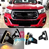 FidgetKute 2 Color DRL for Toyota Hilux Rocco 2018 Daytime Running Light Fog Driving Lamps