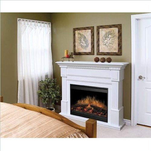 Dimplex Essex Electric Fireplace In White