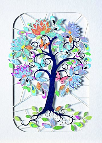 forever-handmade-cards-paper-mode-laser-cut-card-exotic-flowering-tree-curly-stems-pm203