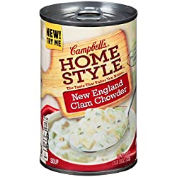 Funny product Campbell's Homestyle New England Clam Chowder, 18.8 Ounce Cans (Pack of 12)