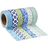 Mudder Washi Masking Tape Collection, Pack of 6 (Color Set 7)