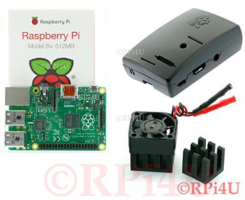 Raspberry Pi Model B+ 512 Mb Plus Case Plus Aluminum Heatsink With Fan