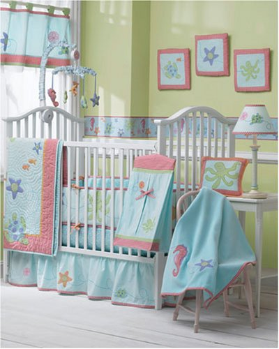 Sumersault Sally the Seahorse 4 pc Crib Set - Buy Sumersault Sally the Seahorse 4 pc Crib Set - Purchase Sumersault Sally the Seahorse 4 pc Crib Set (Sports & Outdoors, Categories)