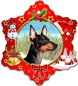Manchester Terrier Porcelain Holiday Ornament