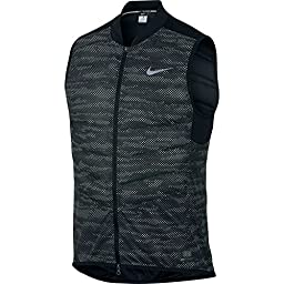 Nike men\'s Aeroloft Flash ALLOVER running Vest NEW! 2016, Black, L