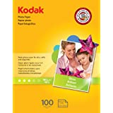 Kodak Glossy Photo Paper, 8.5 x 11 Inches, 100 Sheets per Pack (8209017)