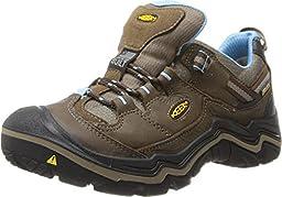 KEEN Women\'s Durand Low WP Hiking Shoe, Dark Earth/Alaskan Blue, 8 M US