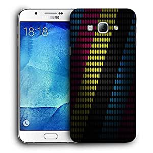 Snoogg Multiocolor Strips Printed Protective Phone Back Case Cover For Samsung Galaxy Note 5
