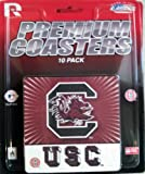 NCAA South Carolina Fighting Gamecocks Premium Coaster Set at Amazon.com