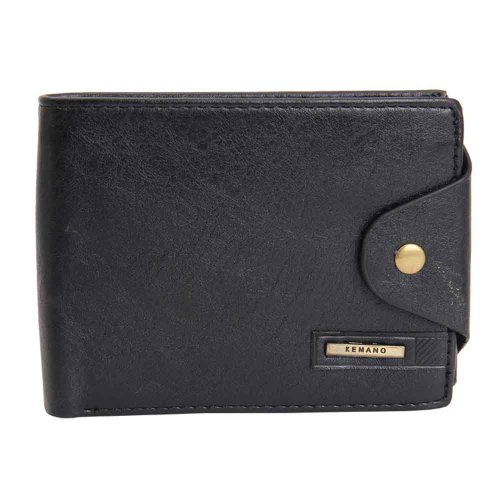 Khoobsurati Zovon Exclusive Designer Black Wallet (orange)
