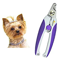 Alkem Pet Nail Clippers Small Medium Dogs & Cats High Quality Steel Blades Safety Lock Purple