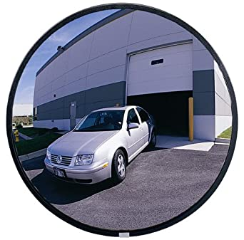 See All Circular Acrylic Outdoor Convex Security Mirror with Stainless Steel Back