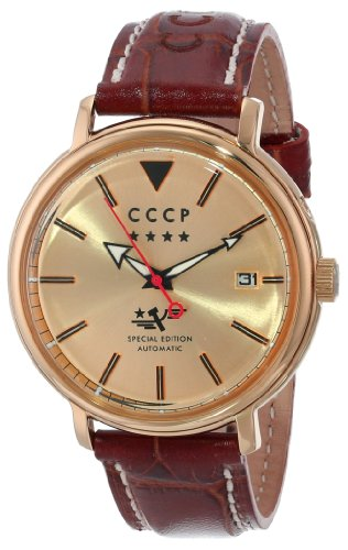 CCCP Men's CP-7020-03 Heritage Analog Display Automatic Self Wind Brown Watch