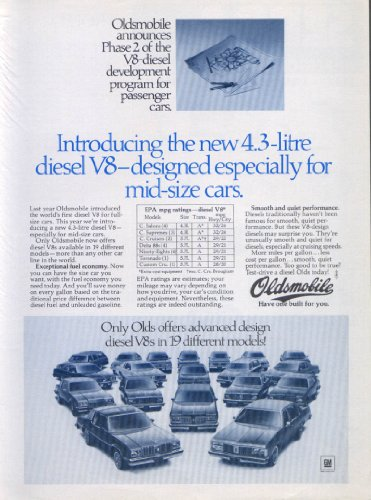 Introducing The Diesel V8 Oldsmobile Ad 1979