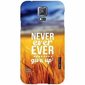 Design Worlds Samsung Galaxy S5 Back Cover - Never Designer Case and Covers