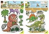 FunToSee Dinosaurs Boys Nursery and Bedroom Wall Decals, Dinosaur