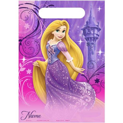 Hallmark Party Supply - Disney Princess Tangled - 8/Pkg Sparkle Favor Bags