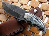 BC-224, Custom Handmade Damascus Steel Knife- Stunning Easy Grip Handle