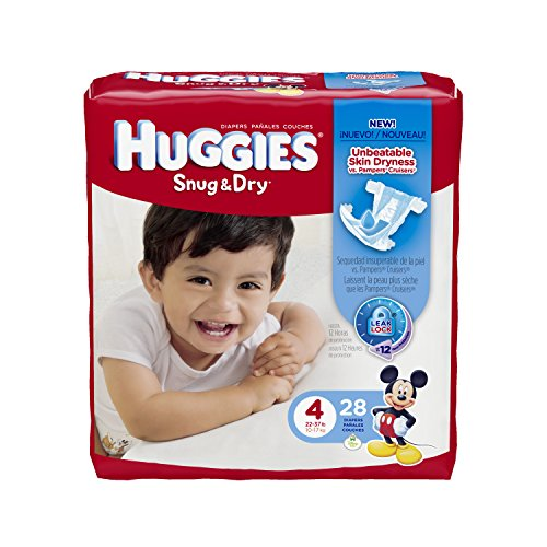 Huggies Snug and Dry Diapers - Size 4 - 28 ct - 1