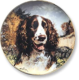 Springer Spaniel by Robert Abbett 9.25 inch Decorative Collector Plate